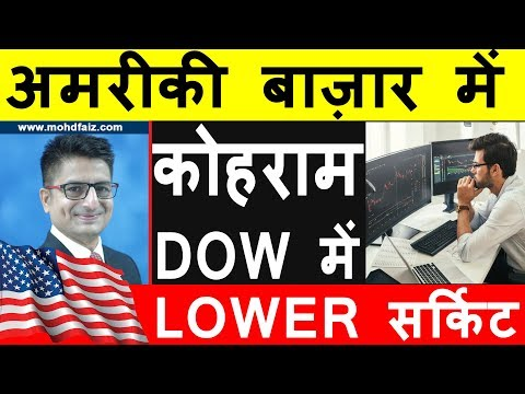 DOW JONES INDEX TODAY | DOW में LOWER सर्किट | Latest Share Market News Today In Hindi