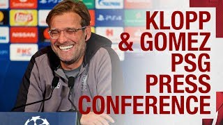 Pre-PSG Champions League press conference | Jürgen Klopp & Joe Gomez