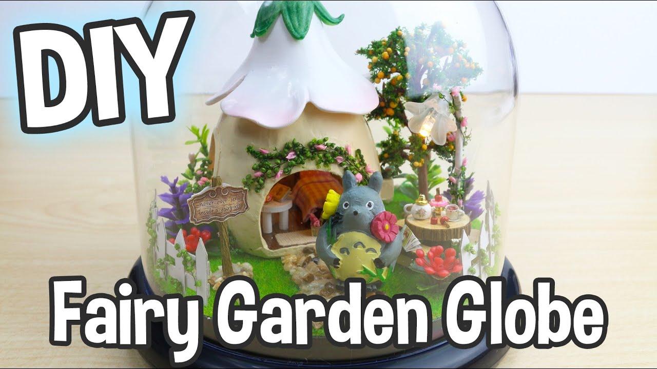 diy miniature fairy garden dollhouse kit with totoro and working lights. beautiful ideas. Home Design Ideas