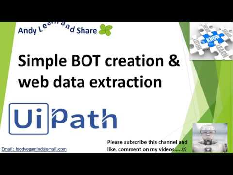 UiPath Web Data Extraction and basic BOT creation using UiPath