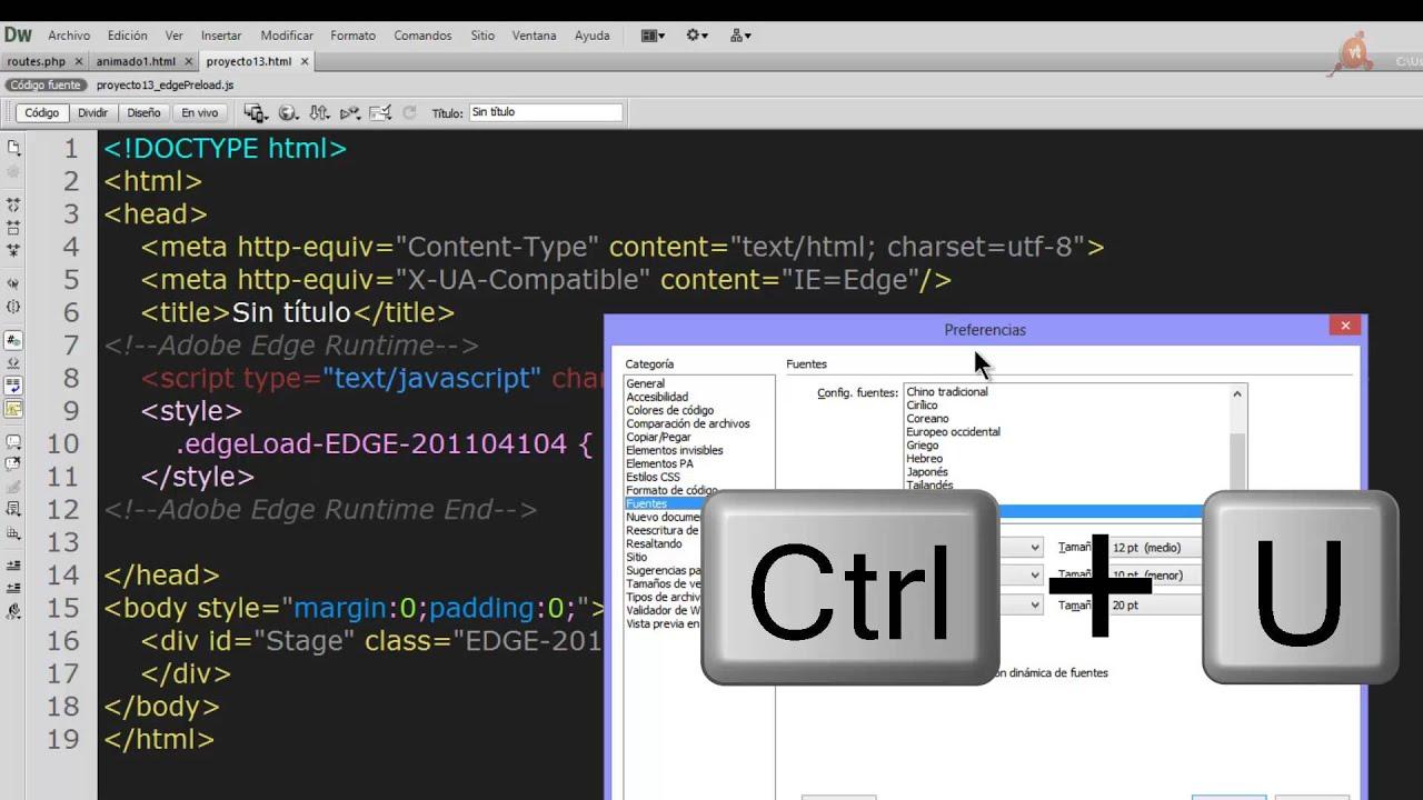Dreamweaver CS6 con combinación de colores como Sublime Text. - YouTube
