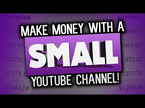 How To Make Money On YouTube With A SMALL Channel!