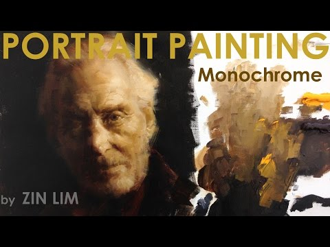 Monochromatic Portrait Painting of Tywin Lannister, Game of Thrones.
