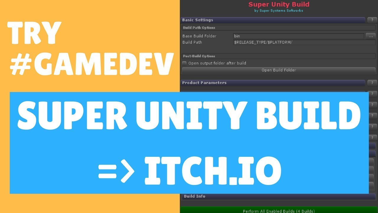 Try #GameDev: Upload to itch io from Super Unity Build