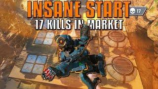 Crazy Start - 17 Kills In Market! | Apex Legends