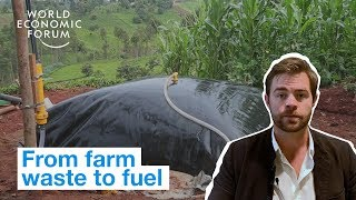 This invention turns farming waste into fuel for homes