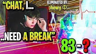 CLIX ALMOST *FAINTS* after TRYING SO HARD for UNDEFEATED 1v1 Record! (Fortnite)