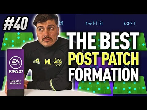 BEST FIFA 21 FORMATION & TACTICS POST PATCH