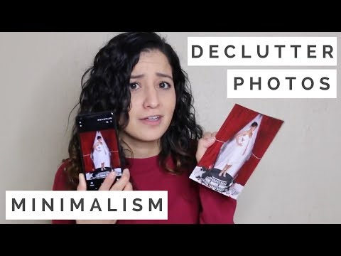 MINIMALISM Declutter Photos and Yearbooks!