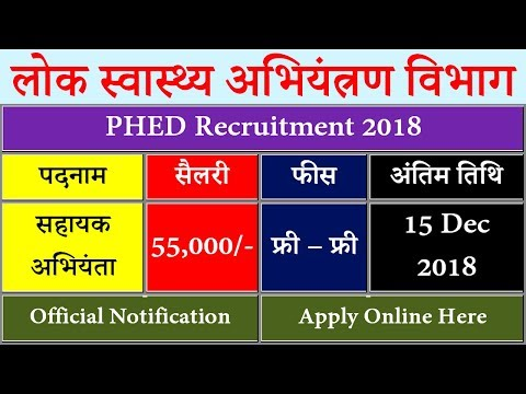 Bihar PHED Recruitment 2018 || AE Salary, Vacancy Online Form @ phed.bih.nic.in