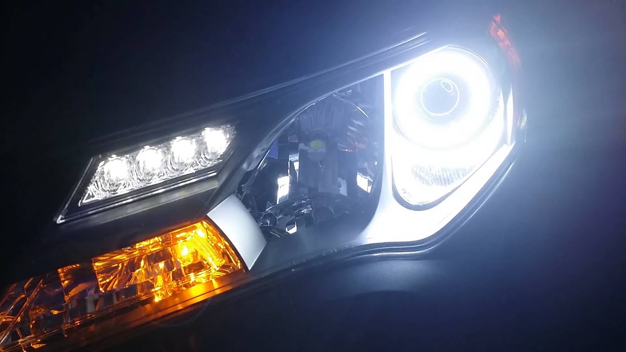 2013 Rav4 Led Drls And Halos Youtube