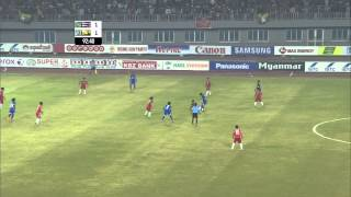 27th SEA GAMES MYANMAR 2013 - Football W Myanmar v Thailand 18/12/13