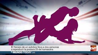 Repeat youtube video Dos pasajeros de un autobús acaban haciendo una postura del Kamasutra   El Mundo Today 24H