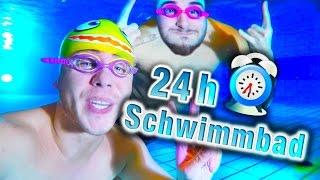 24 STUNDEN im SCHWIMMBAD !!!