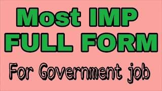 Most IMP Gujarati full form for Gujarat government job | Gk for TET exam preparation