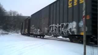 CSX at Mance Curve - Level Two Snow Emergency
