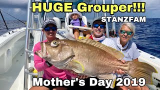 HUGE Grouper and Tilefish on our Mother's Day Fishing Trip 2019! Hook and Cook!