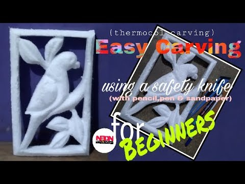 Easy Carving // for beginners // thermocol carving