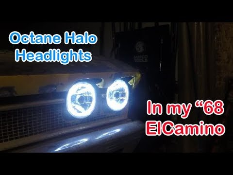 putting some octane halo headlights in my 68 el camino