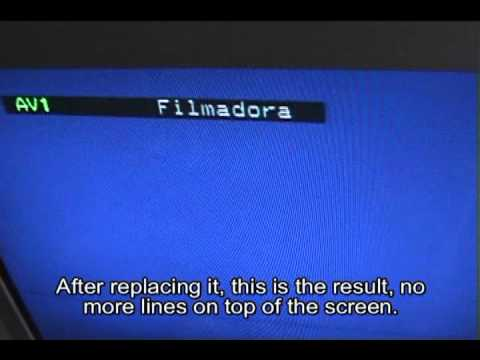 How to fix horizontal lines top of tv screen
