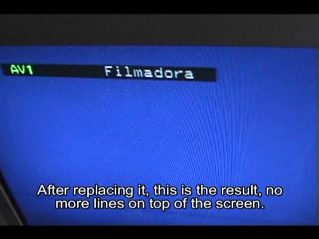 How To Fix Horizontal Lines Top Of Tv Screen Clipfail