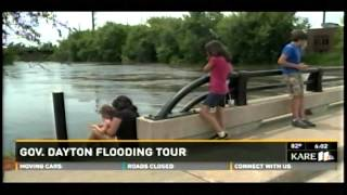 Governor Dayton Tours Flood Damage Across Minnesota