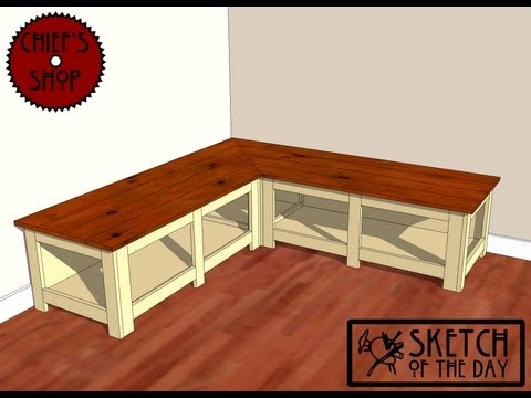 Chief's Shop Sketch of the Day: Foyer Corner Bench