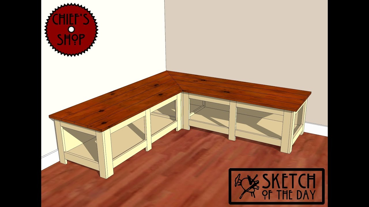 Foyer Seating Bench : Chief s shop sketch of the day foyer corner bench youtube