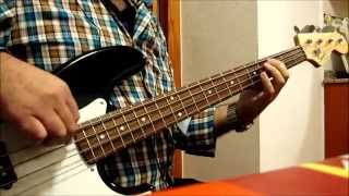 The Trammps - Disco Inferno Bass Cover (easy fingering)