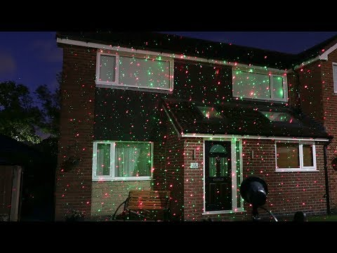 laser light projector with red green and blue leds ol035 - Christmas Lights Projector On House
