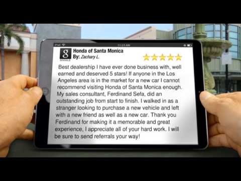 Honda of Santa Monica Amazing Five Star Review by Zachary L.
