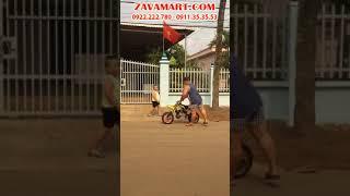 Diễn viên Hiếu Hiền test xe cào cào mini 50cc - xe moto ruồi mini 50cc | WWW.ZAVAMART.COM