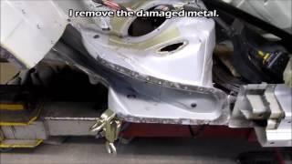 BMW 5. The rear part repair. Ремонт задней части.