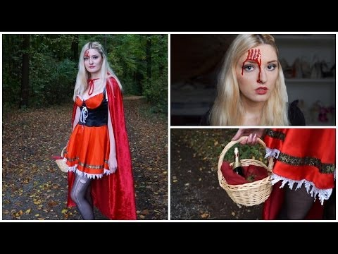 Rotkappchen Make Up Diy Cape Flechtfrisur Halloween Kostum