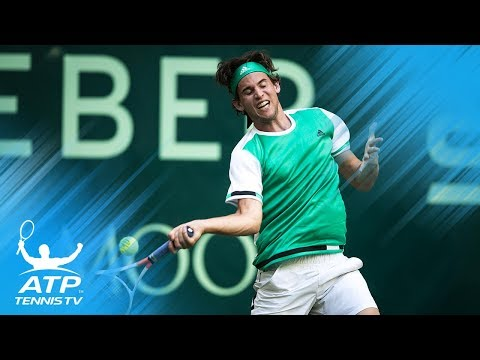 Amazing Dominic Thiem diving volley winner | Gerry Weber Open Halle 2017