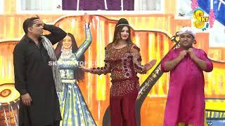 Qaiser Piya and Saima Khan | Stage Drama Rang Barangi | Full Comedy Clip 2019