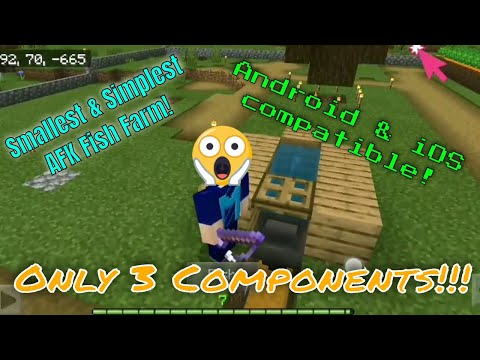 Best New AFK Fish Farm For MCPE Touch Screen Controls!