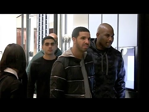 EXCLUSIVE - Drake shopping at Chanel store in Paris