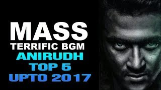 ANIRUDH TOP 5 MASS BMS UPTO 2017 || TOP NATION TELUGU