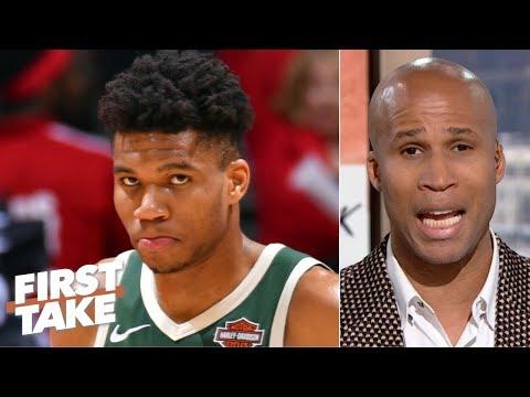 Blame Giannis if the Bucks can't beat the Raptors, reach NBA Finals – Richard Jefferson | First Take