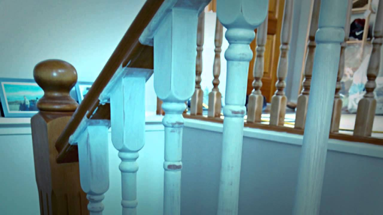 Fianlly My Stair Spindles Are Painted In White   YouTube