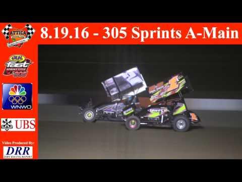 8.19.16 Attica Raceway Park 305 Sprints A-Main