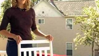 Dixie Seating Indoor Outdoor Slat Rocking Chair - Product Review Video