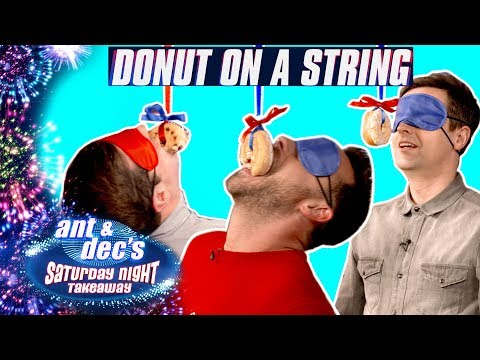 Doughnut on a String Challenge  Ant and Dec v SORTEDfood