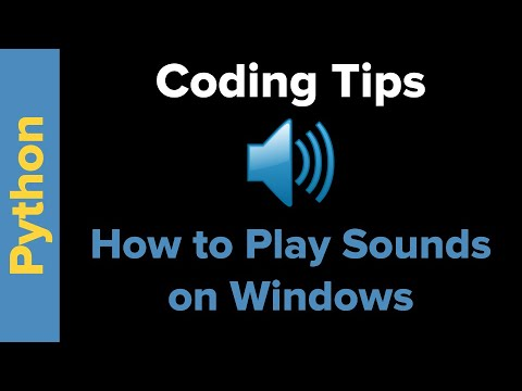 Viewer Questions: How to Play a Sound with Python in Windows