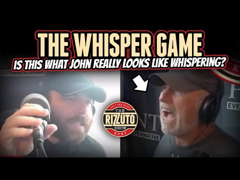 We played the WHISPER GAME with John Patrico... His whisper looks more like a yell! [Rizzuto Show]