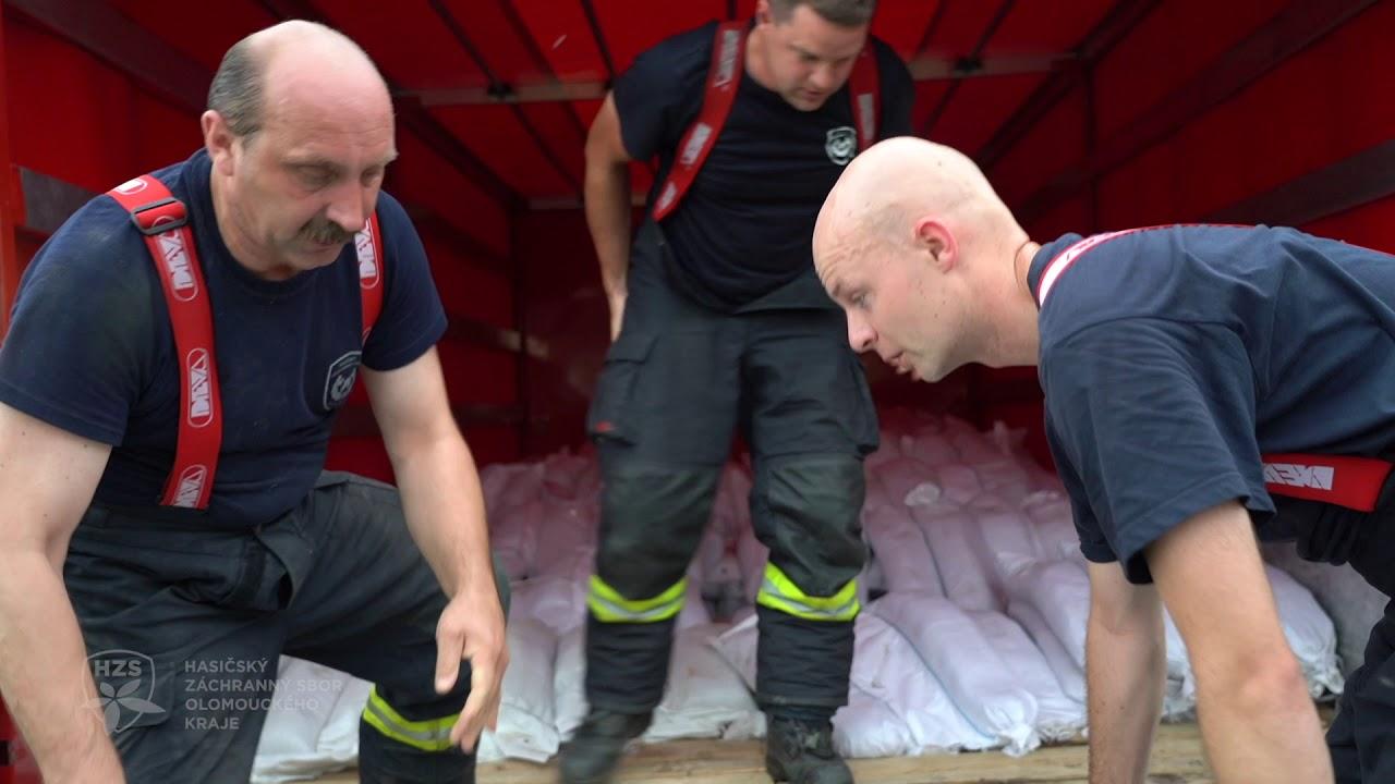 Vydatné srážky v Olomouckém kraji - povodňová situace 29.6.2020