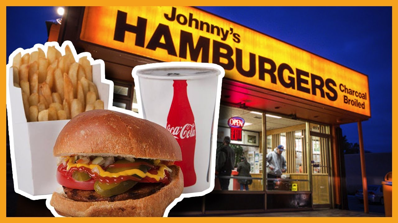 Johnny's Hamburgers ♥ Cheeseburger, Onion Rings & Chocolate Shake