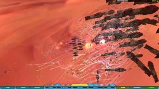 Homeworld 2 - 3000 Pulsar Corvettes vs Vaygr BC Swarm! [4K HD]