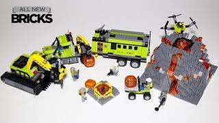 Lego City 60124 Volcano Exploration Base Lego Speed Build